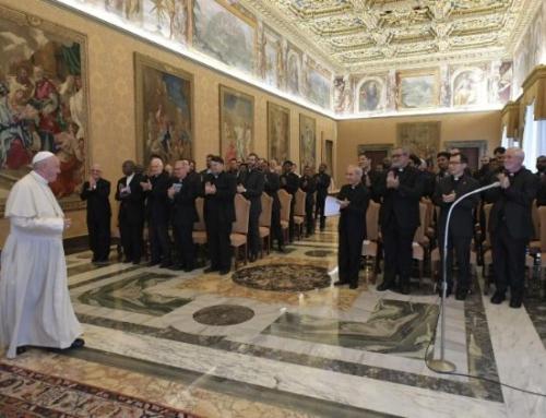 Jezuitské medzinárodné kolégium na audiencii pri 50. jubileu