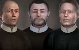 Zľava: sv. Štefan Pongrác SJ, sv. Marek Križin, sv. Melichar Grodecký SJ