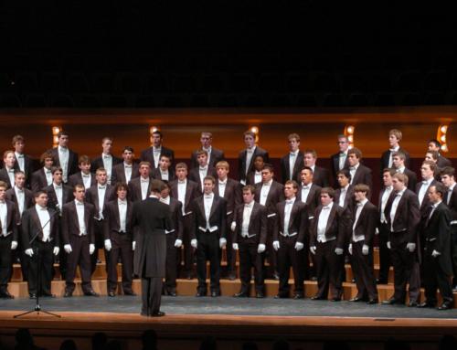 Koncert 60-členného mužskeho zboru NOTRE DAME v Bratislave