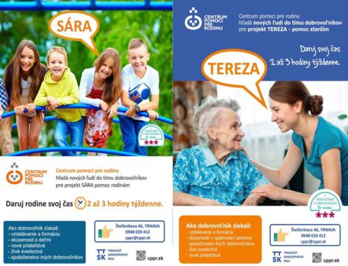 Centrum pomoci pre rodinu s projektom SÁRA a TEREZA