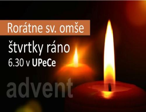 Rorátky – Advent v UPeCe